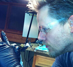 Tattoo Artist Jay Wheeler at Work