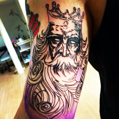 Poseidon Tattoo by Kym Munster