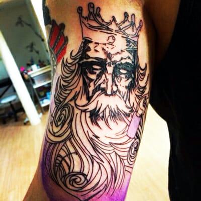 Poseidon Tattoo by Kym Munster