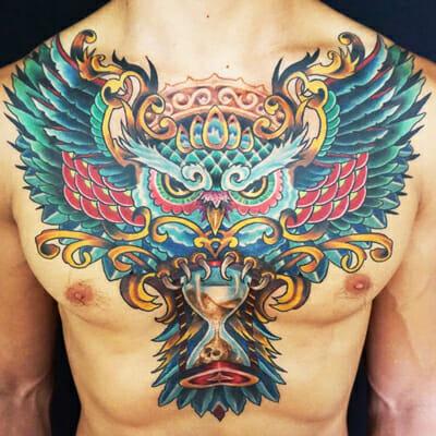 Tattoo Owl by Sierra Colt