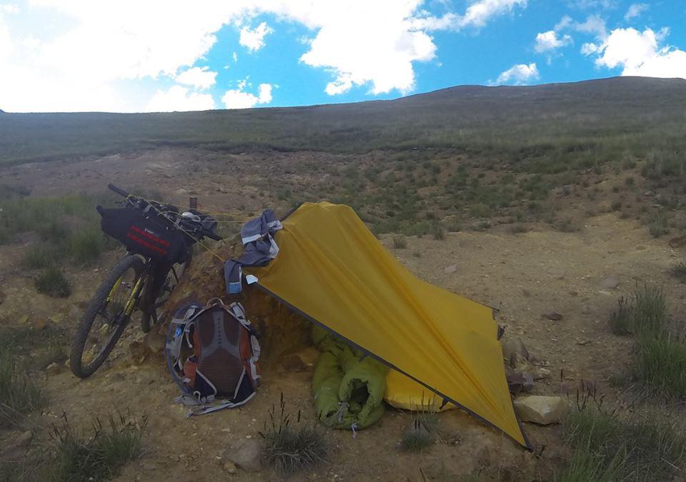 na de las 7 noches: Equipo de camping: Tarp, Therma Rest Neo Air, Sleeping Bag.