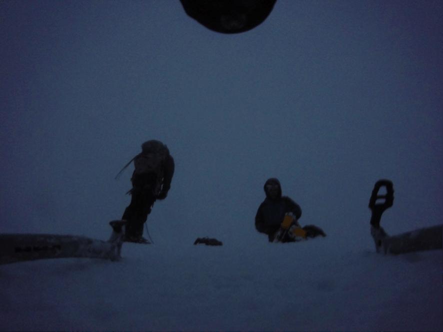 La cumbre del Pumahuanca cero visibilidad