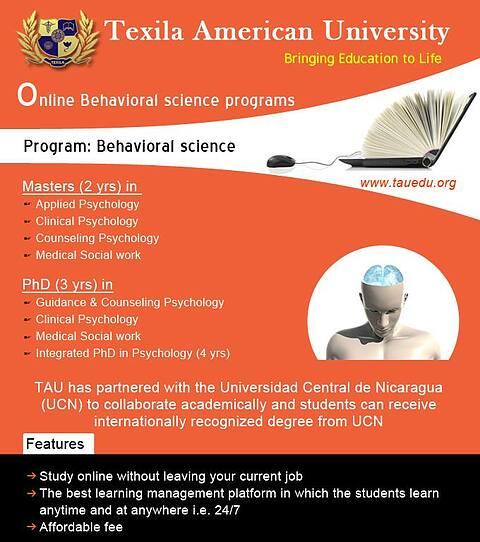 Psychology programs online @ TAU