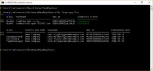 Screenshot of a command window
