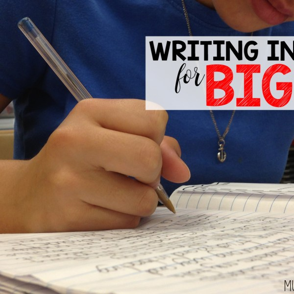 Writing Intervention for Big Kids: Here's What Works for My Students and Me
