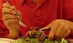 Eating l\'escargot.