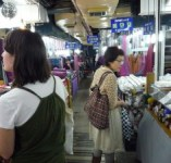 shopping in Dongdaemun market