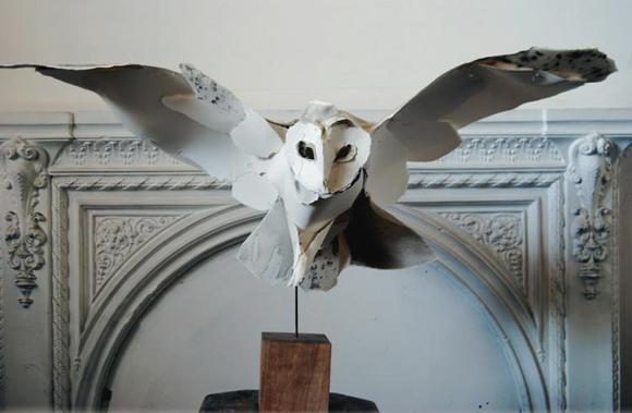 BarnOwlPaperSculpture3