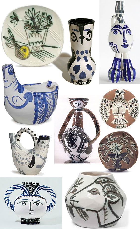 picasso pottery clay ceramics