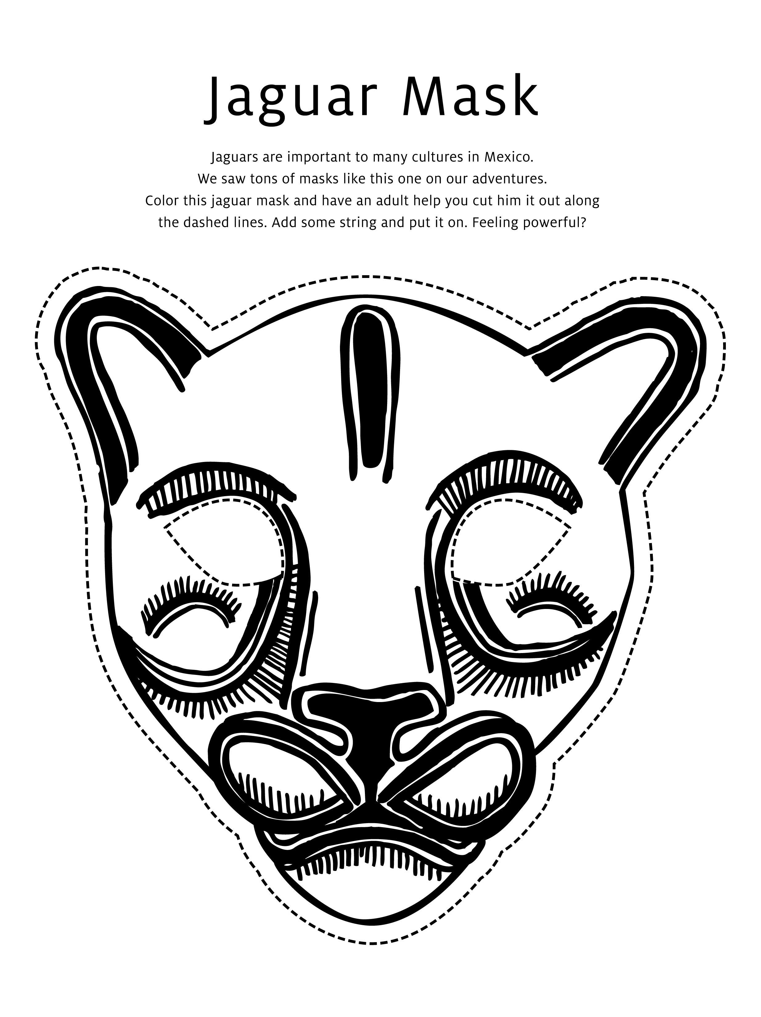 Jaguar Amp Butterfly Masks Activity Download