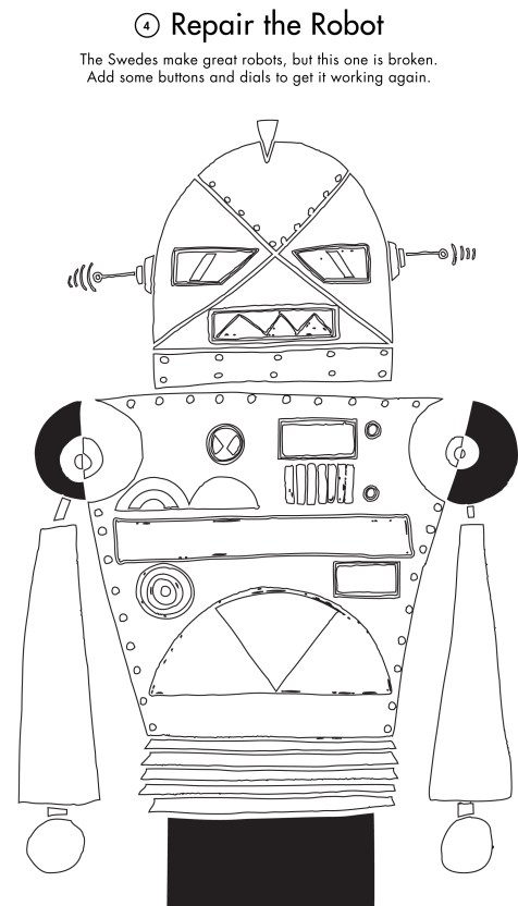 activity printout of a robot