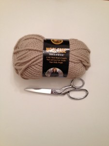 Skein of Yarn and scissors.