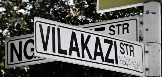 Vilakazi Street sign in Soweto.