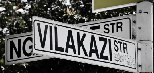 Vilakazi Street sign in Soweto.