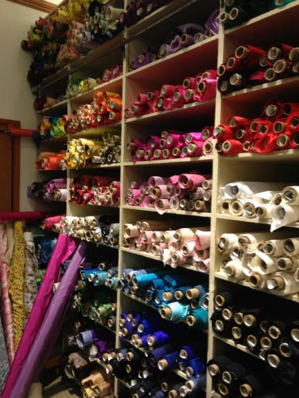 Emily Meyer, co-Founder of Tea Collection Fabric Shopping for Aubrey's Emmy Dress
