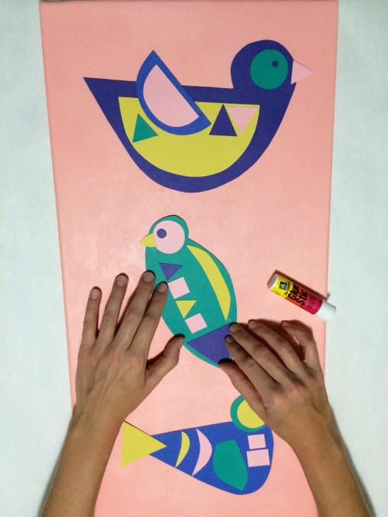 DIY Bauhaus Bird Canvas