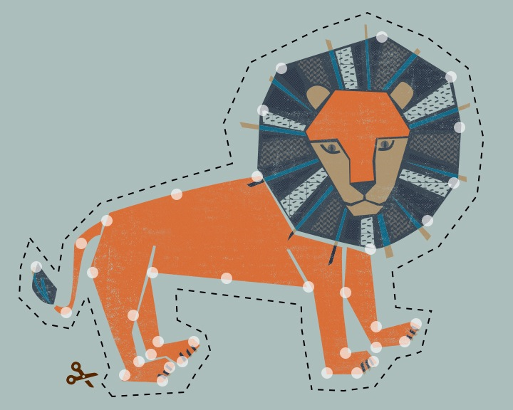 DIY Embroider Lion