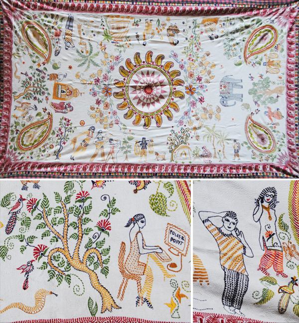 Mahamaya Sikdar - everyday Life Kantha quilt