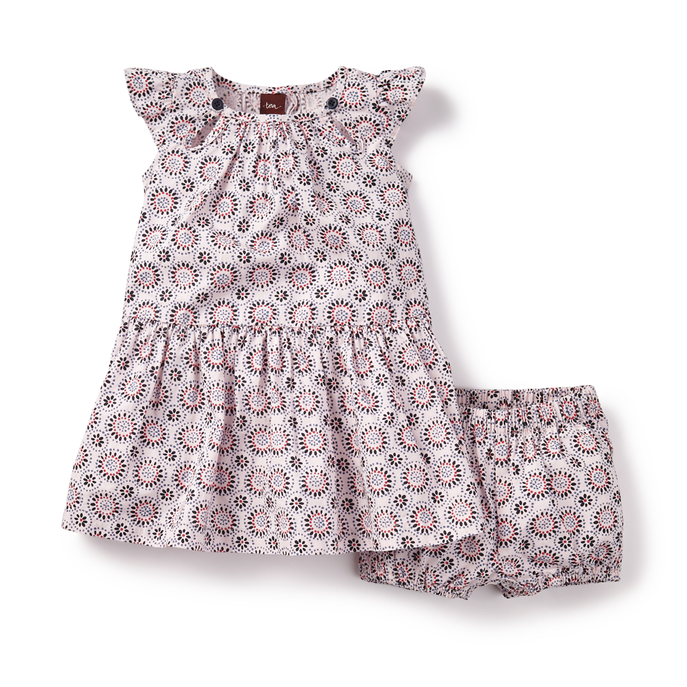 baby girl sea glass tiered dress