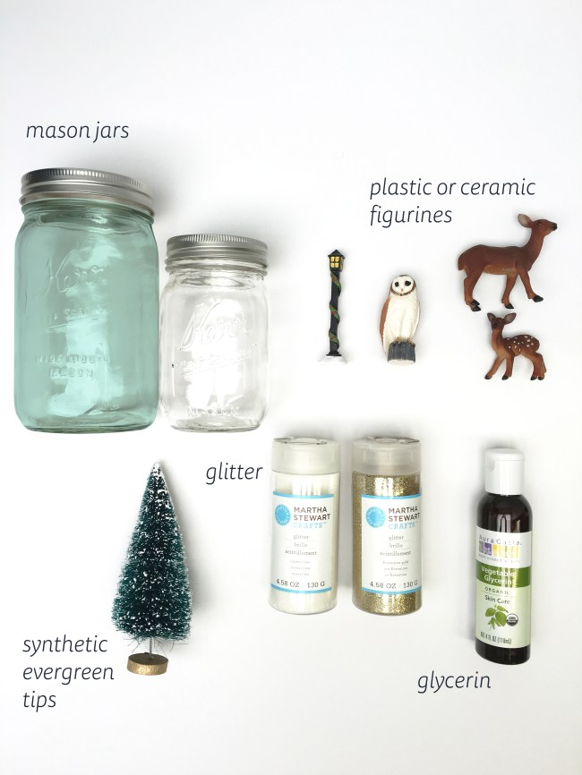 diy snow globe supplies