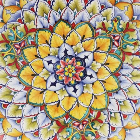Sunburst Design Ceramic
