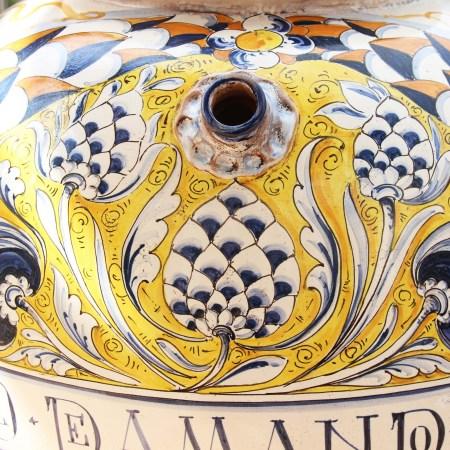 Up close detail of a pot
