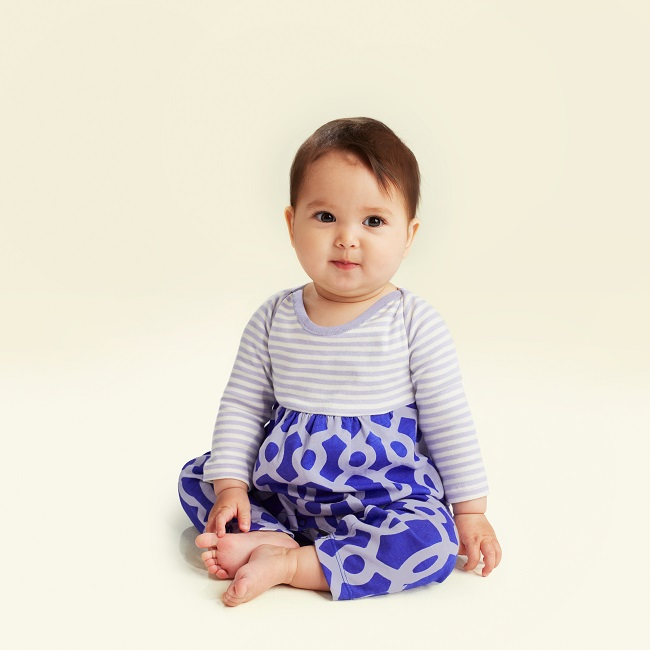 Macha Two-Tone Romper for baby girl