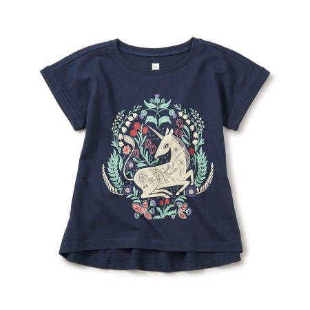 Girls Unicorn Cuffed Top