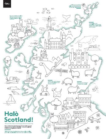 Scotland Kids Coloring Map