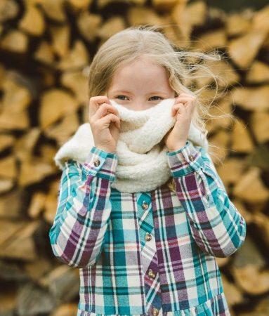 Girl Applecross Flannel Shirtdress