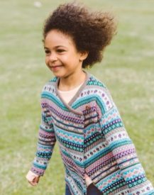 Girl Caspian 1-Button Cardigan