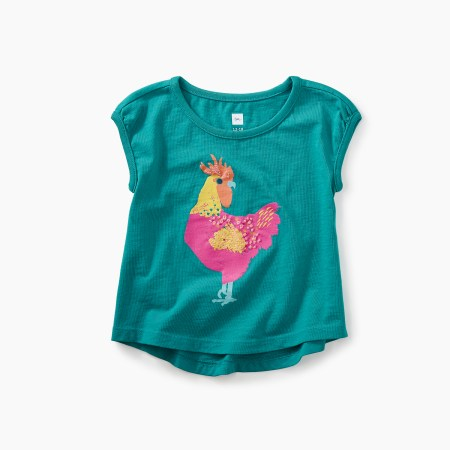 Rooster Graphic Baby Tee