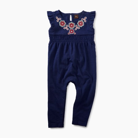 Martha Berry Embroidered Romper