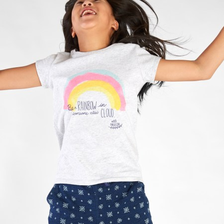 Tween clothing Maya Angelou Rainbow Graphic Tee