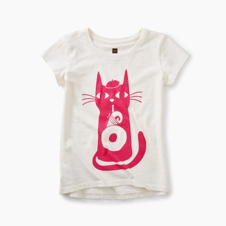Girls Jazz Cat Graphic