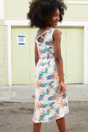 Hawaiian Florals Hi Lo Tank Dress