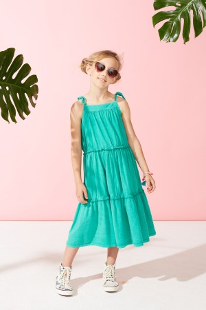 Green Pop Tiered Sundress