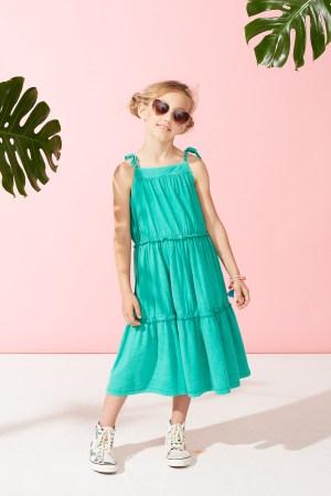 Green Pop Tiered Sundress