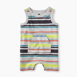 Baby Boy Neon Tank Romper