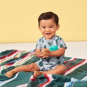 Classic Cacti Baby Print Pocket Romper
