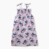 Girls Tie Shoulder Midi-Length Dress