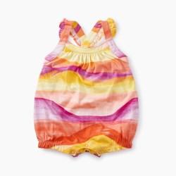 Baby Girl Cross-Back Romper