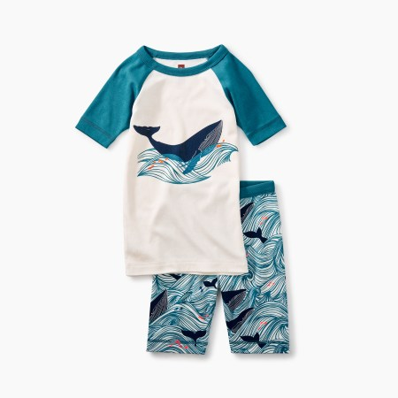 Boys Wavey Whale Pajamas