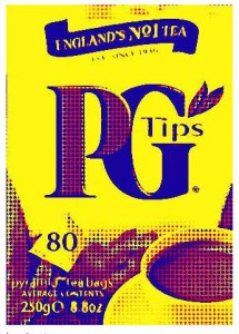 Artistic Rendering of a box of PG Tips Tea