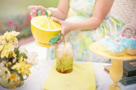 kids iced tea stock photo