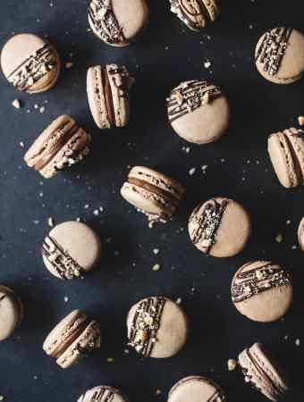 Ferrero Rocher Macarons   Teak & Thyme