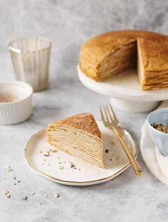 Pumpkin Crepe Cake   Teak & Thyme