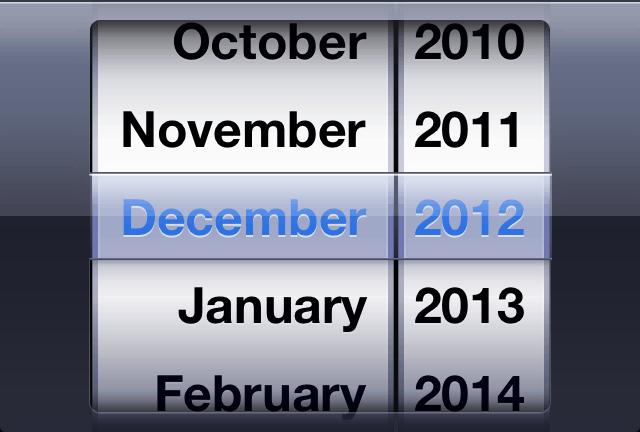 Input type month iOS