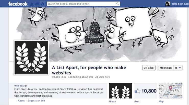 A List Apart Facebook