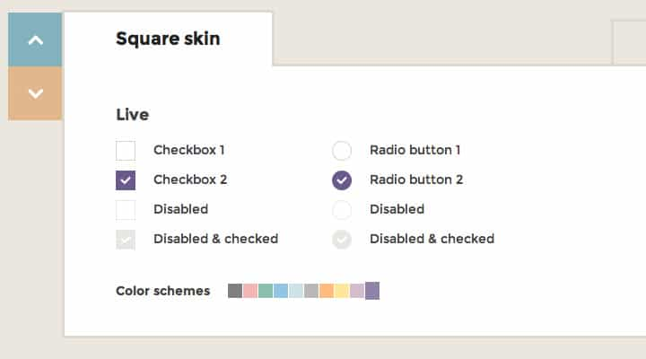 icheck jquery plugin checkboxes radio buttons preview